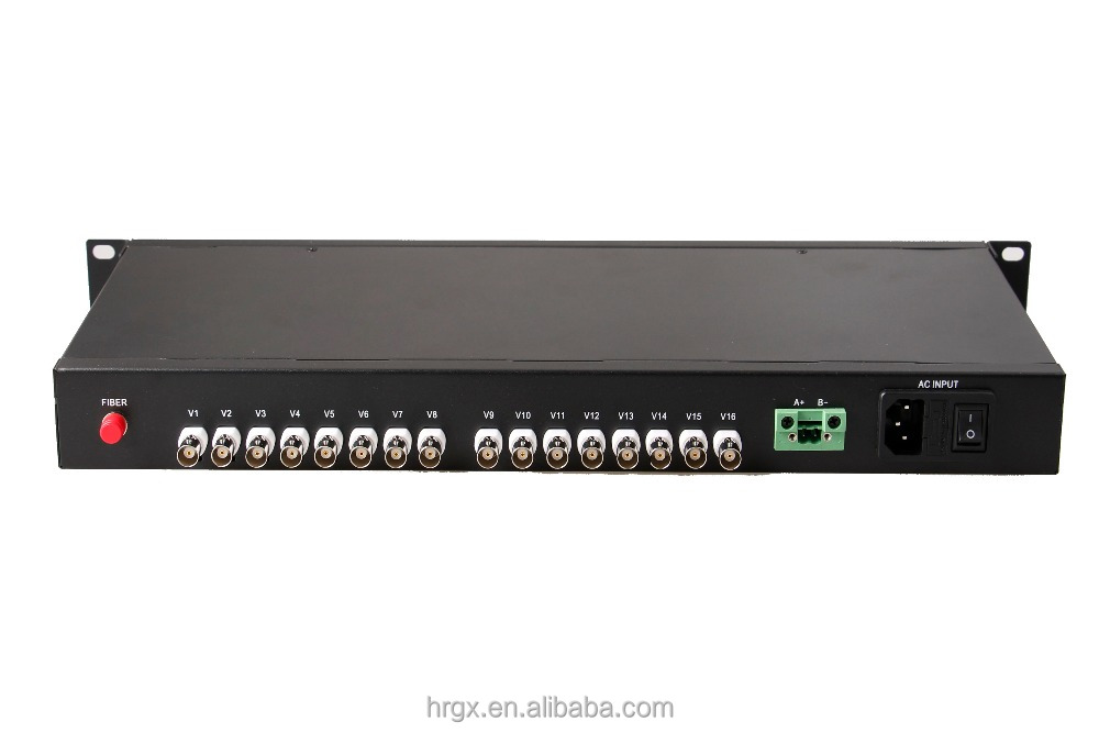 High reliability 16 channel hd ahd cctv fiber video converter for surveillance system
