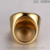 Wholesale New Style Gold Coating crystal rhinestone stainless steel men's ring