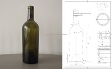 glass wine bottle 750ml