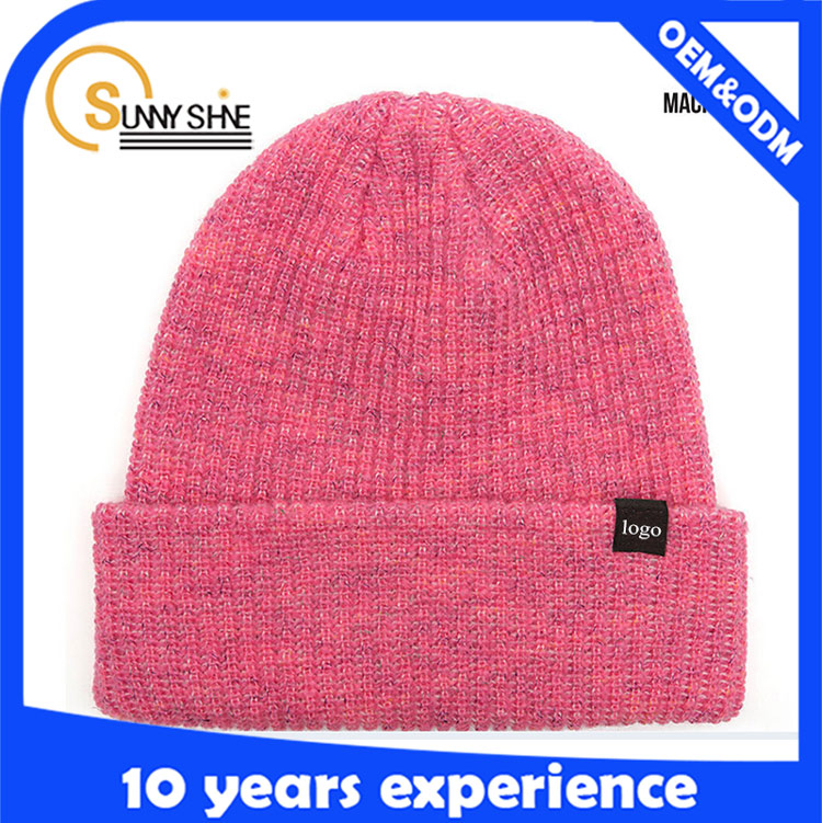 New style plain knitted hats custom cheap beanie caps winter cap for women