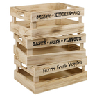 Small item wooden crate set of 3 pcs wooden storage boxes