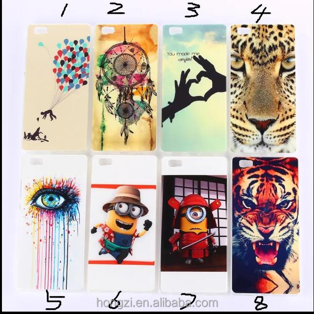 tpu IMD The tiger yellow people Back Cover Cell Phone Case for huawei p8lite P8 Support custom models and design OEM