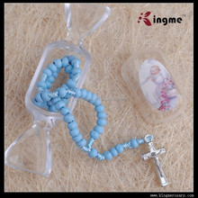 top selling wooden beads mini rosary with box catholic rosary for baby