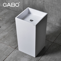 Free Standing Pedestal Glass Basins for Bathrooms