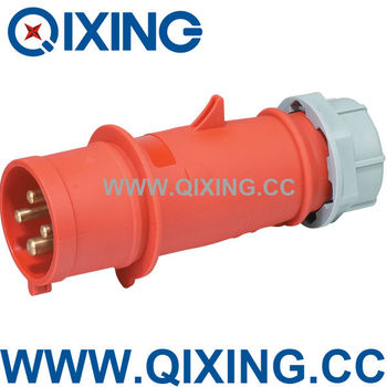 CEE 4pins waterproof plastic Industrial plug