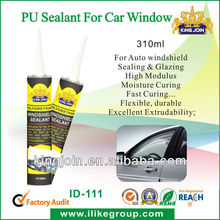 Auto glass black polyurethane sealant