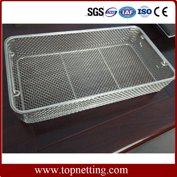 Stainless Steel Crimped Wire Mesh Trays And Baskets