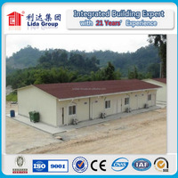 light steel structure modular prefab house K type for worker accommodation