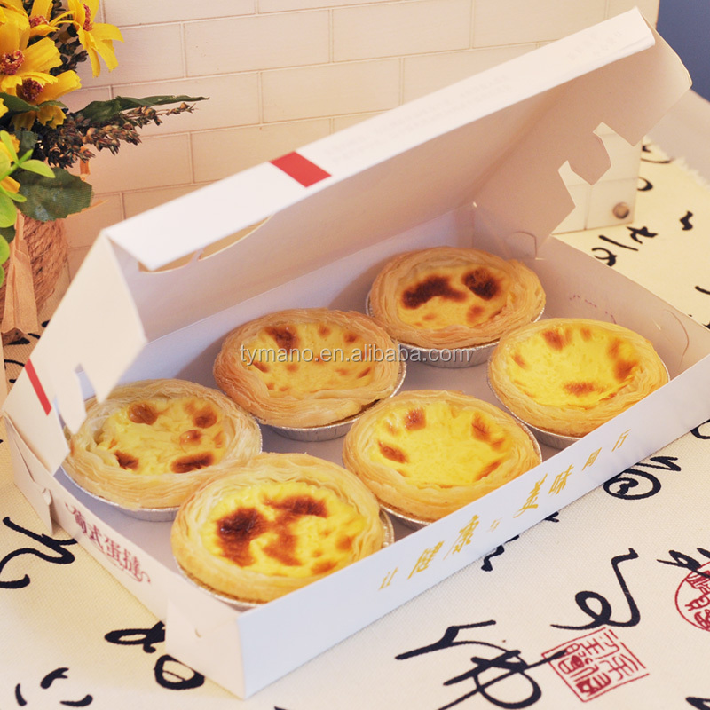 custom cheap apple pie/cookie/egg tart packaging box for 6 cups 2 cups box hot sale
