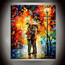 Handpainted canvas oil painting Figure Oil Painting For Bedroom Painting With Frames Stretched Home Decoration