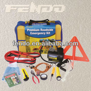 auto survival emergency repair kit with warning triangle