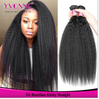 2016 fashion hair style for black women kinky straight brazilian hair extensions