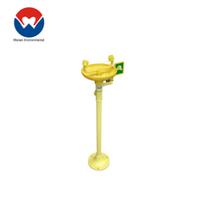 Power portable eye wash wall mounted emergency shower and