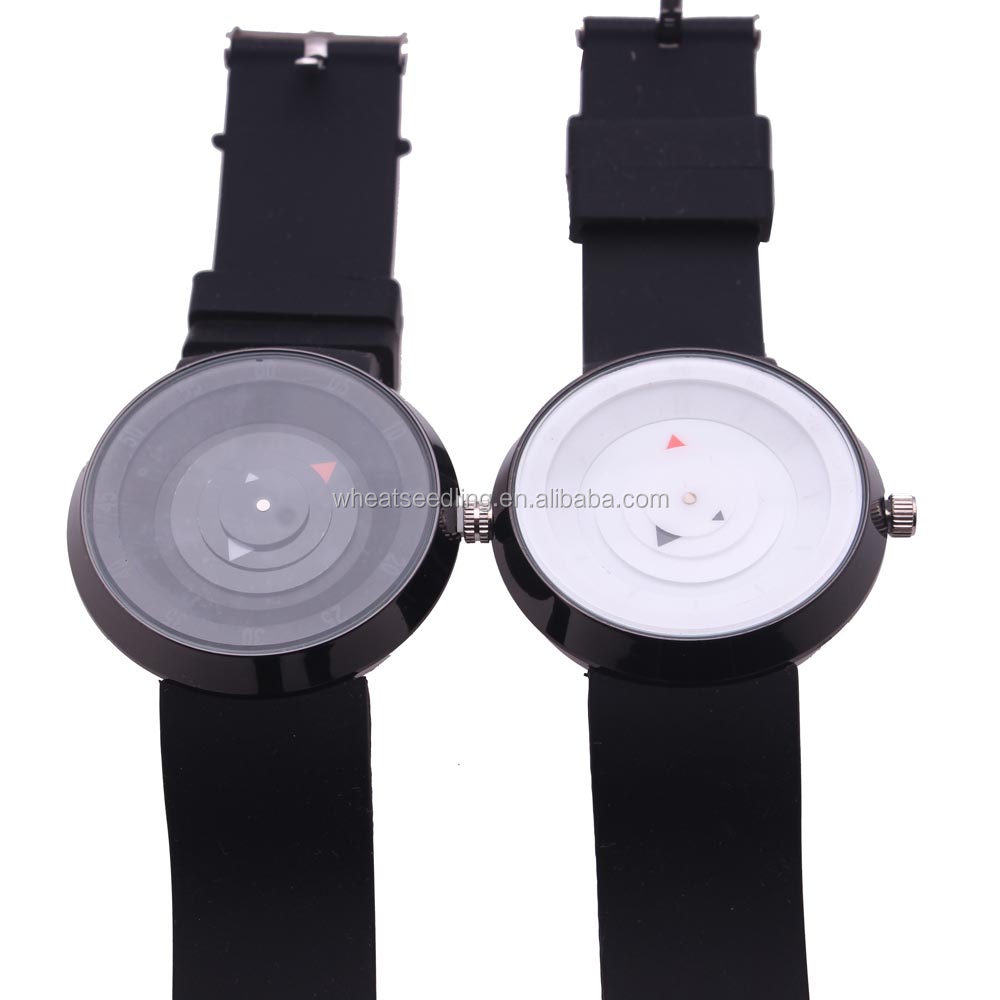 2017 men's gift 3D discs creative time code wristwatch waterproof design light sports casual fashion quartz watches