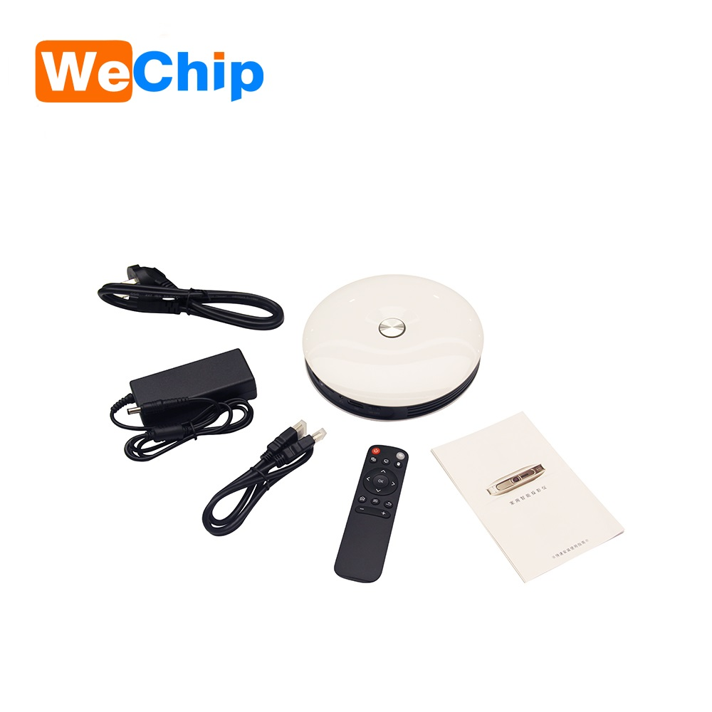 2017 wechip newest cheapest Mini Projector D08 android 4.4.4 bluetooth 4.0 wifi 2.4g/5g DDR3 1G 4G 8G 16G 32G pocket projector