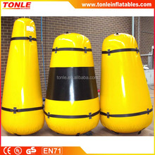 PVC popular customized high quality inflatable truncated circular marker buoys for sale