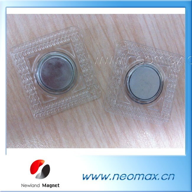 Customized magnetic button with Zn coating for clothes for hot sale