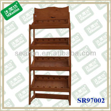High quality Wooden Wine Rack, antique wooden wine rack