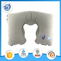 custom logo inflatable travle neck pillow with pouch