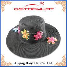 Wholesale black paper and flowers in hot lady hat