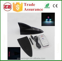 Solar LED Anti Collision Laser Rear End Warning Light Shark Fog Lamp Shark Antenna Style Colorful Universal Laser Fog Lamp
