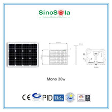 high efficiency 30W Solar Panel Battery Charger with TUV/PID/CEC/CQC/IEC/CE