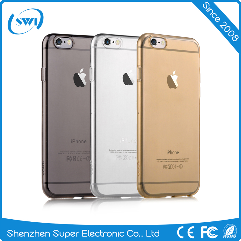 Super Slim 0.5mm TPU Cell Phone Case for iPhone 6/6s Plus Transparent Protective Back Cover