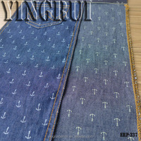 printed denim fabric 100% cotton light denim for shirts and trousers