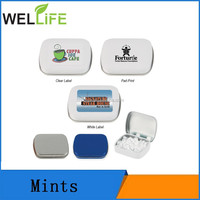 Low calorie sugar free breathe white mints