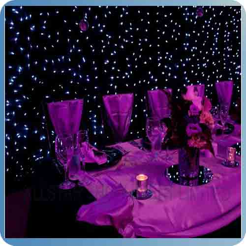 Newest design led twinkling stars led curtain lights