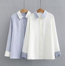 2020 New Fancy Design Women's Printing 100%Cotton <strong>Blouse</strong> Double Collar <strong>Blouse</strong> Button down collar