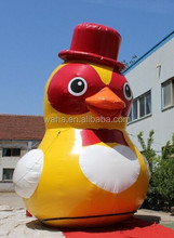 Inflatable pvc tarpaulin yellow rubber DUCK for turism display 6M TALL