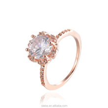 2017 new hot sale fashion personality flower high quality diamond ring