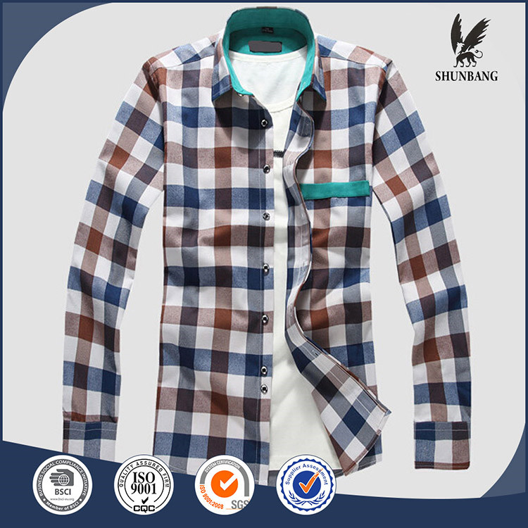 Italy winter hunting clothes flannel long sleeve shirts dress man design