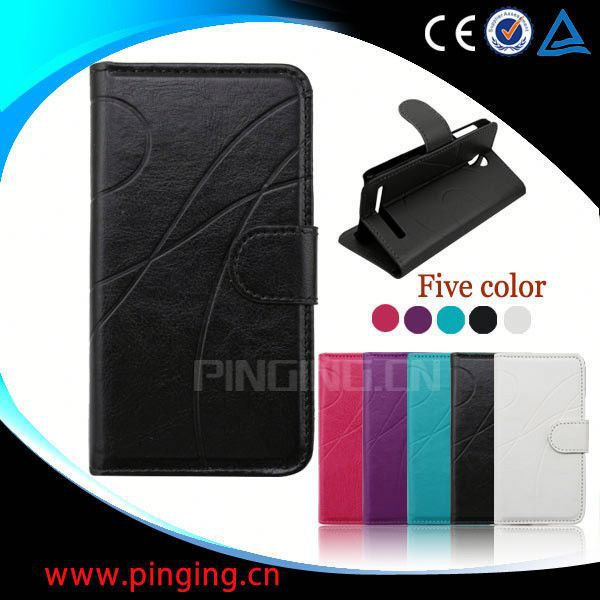 factory price leather phone cover for samsung galaxy s4 mini i9109 case