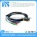6Ft DVI-I Dual Link to 3-RCA Component Video Cable M/M