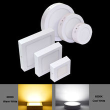 3W 6W 12W 18w 24w Round&Square Surface Led Panel Light Energy saving Commercial Indoor CE RoHS Home office wall lamp