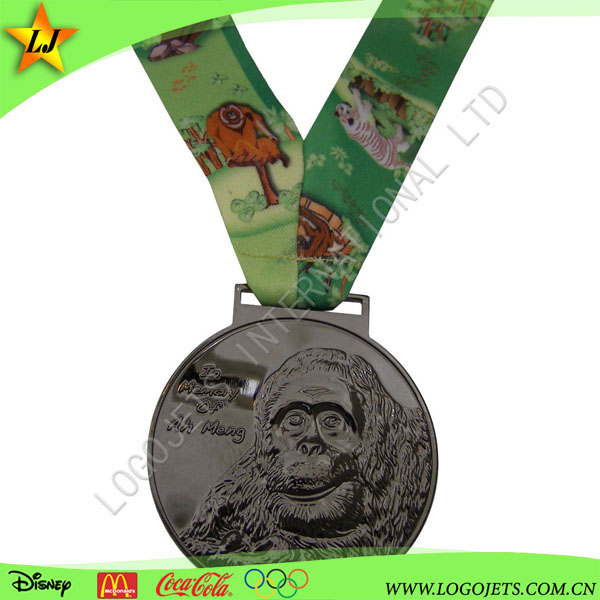 Factory wholesale soft enamel round souvenir custom size award medal