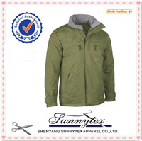 Sunnytex Design New best price OEM hoodie quilted mens winter outdoor military jacket