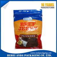 Top zip plastic bag food packaging/ 3 side seal zipper bag/ stand up pouch ziplock bag for meat,pork,beef,sea food