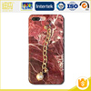 Luxury plating bumper marble pc cell phone case for iPhone,back cover case for Apple iPhone 6 / 7