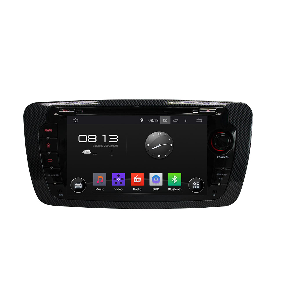 quad core Android 5.1.1 HD touch screen car dvd player with gps navigation for SEAT IBIZA 2013