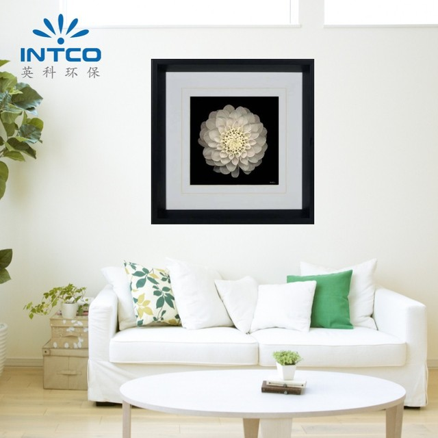 INTCO decorative double mat paper printing plastic framed art