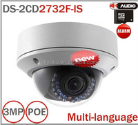 Multi-language DS-2CD2732F-IS 3MP Full HD IP66 Mini Dome Camera Water Proof POE Power Network IR IP CCTV Camera V5.2.5