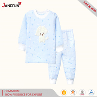 blank 100 % cotton winter thicken hot-selling pajamas for the kid