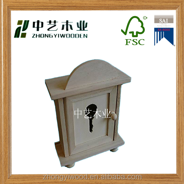 Accept custom solid pine wood key holder,wooden key wall rack box