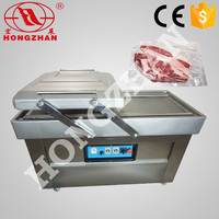 Price for Hot sale DZ600 Hongzhan stianless steel Double chamber rice meat beef vegetables fruits food vacuum packing machine