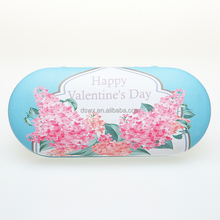Wholesale Blue Digital Printing Double custom glasses hard case