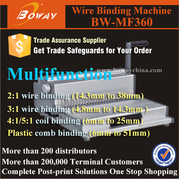 MF360 small plastic ring binder machine