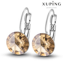 (28457)Xuping Latest Fashion Diamond Swarovski Element Jewelry Elegant Crystal Earrings
